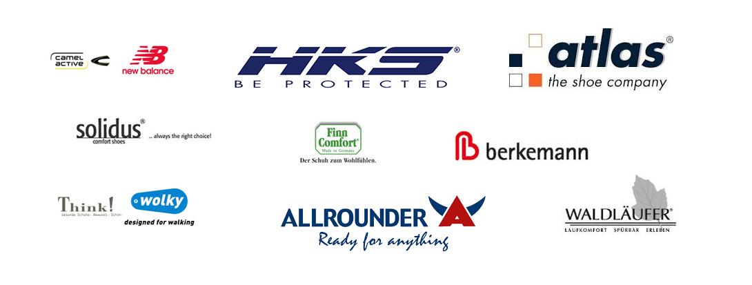 Logos von den Schuhmarken